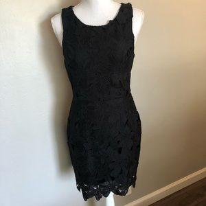 Floral Black Mini Dress